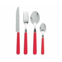 Damien Red Cutlery Set 24 pcs