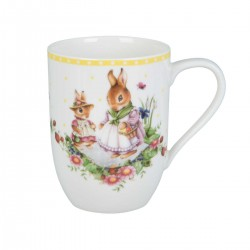 Spring Awakening Cup with handle Bunny Tales Family 0,34 L