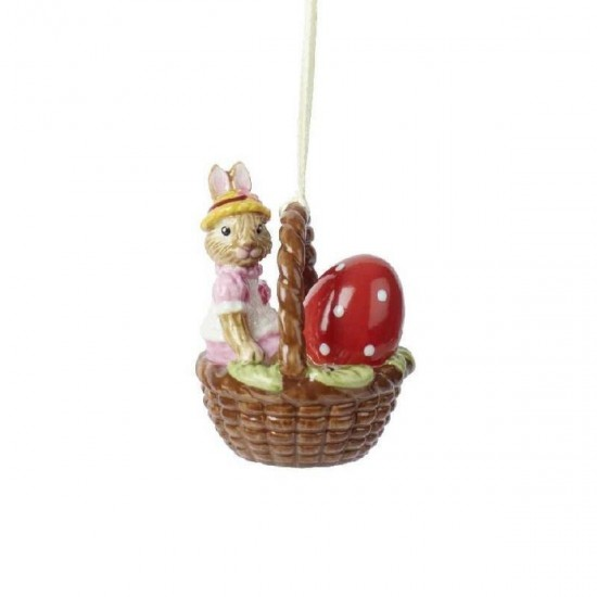 Bunny Tales Ornament Basket Rabbit Anna