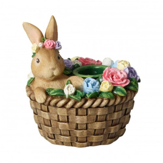 Bunny Tales candleholder bunny in basket