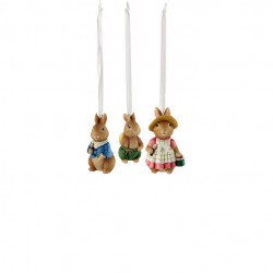 Bunny Tales tree decoration set, 3 pieces, Bunnies  WEIGHT approx. 70 g