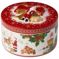 Кутия за подарък кръгла Christmas Toys Santa's reindeer