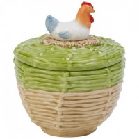 Farmers Spring Covered sugar Hen 11cm