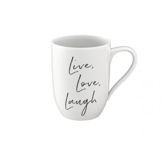 """Statement mug """"Live Love Laugh"""""""