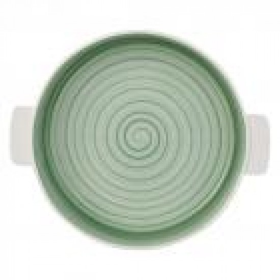 Round Clever Cooking Green Baking Dish 28 cm