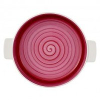 Round Clever Cooking Pink Baking Dish 28 cm