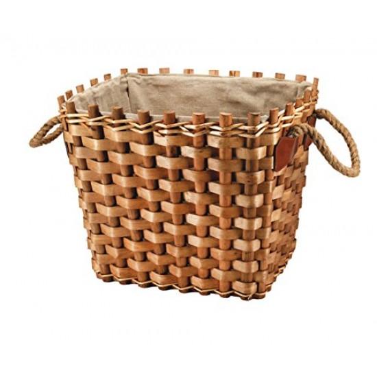 Lined Rectangular Basket Multipurpose 50 x 42 x 40 cm