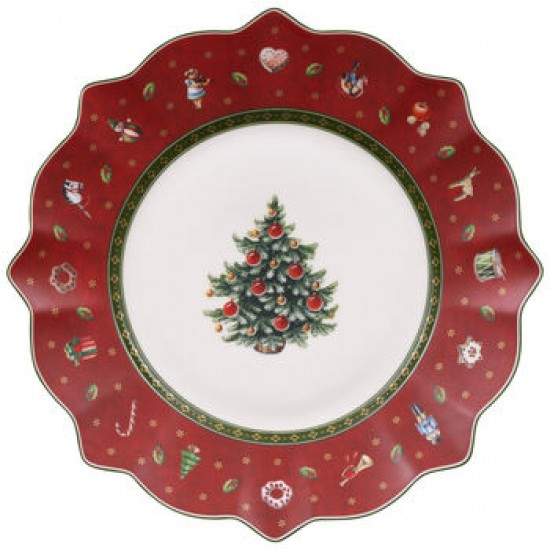 Toy's Deligh red  breakfast plate