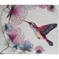 Decorative pillowcase hummingbirds 45х45