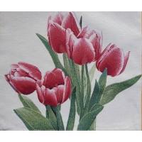 Decorative pillowcase tulips 45x45cm