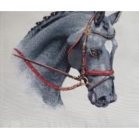 Decorative pillowcase horse 45х45