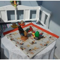 Square table cloth with easter  details