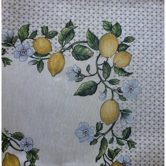 Square table cloth Lemon