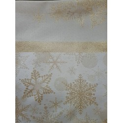 Table Cloth with gold Christmas motifs 140x260