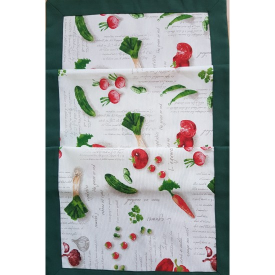 Table runner vegetables 42x135 cm