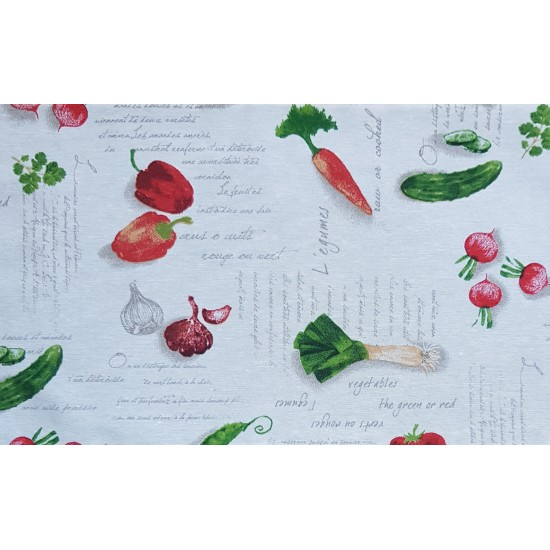 Placemat vegetables double faced 27x44