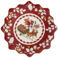 Toy s Fantasy Pastry plate large, Santa on rooftop 42x42x2cm