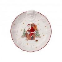 Toy s Fantasy relief bowl Santa, white/multicoloured, 24 x 25 x 4.6 cm
