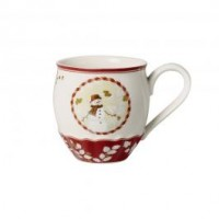 Toy's Fantasy jumbo mug snowman, red/multicoloured, 530 ml