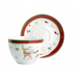 Home Noel Coffee/tea cup & saucer set 4 pcs