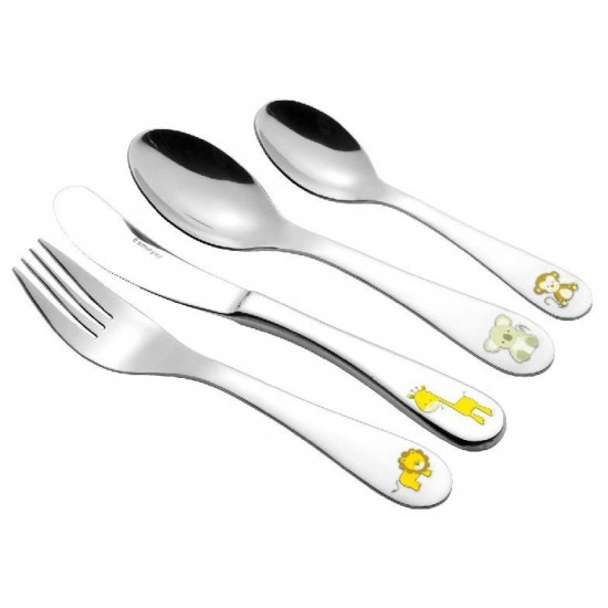 Sunny Jungle  Children's Cutlery Set 4 pcs