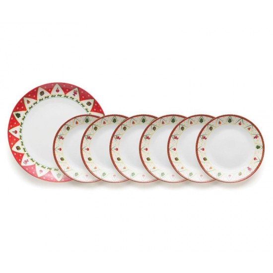 Dolce Natale Set of Plates, 7 pcs