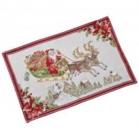Toy's Fantasy Gobelin placemat sleigh, red/multicoloured, 32 x 48 cm