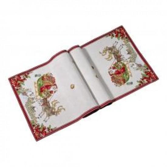 Toy s Fantasy Gobelin runner sleigh XL, red/multicoloured, 49 x 143 cm