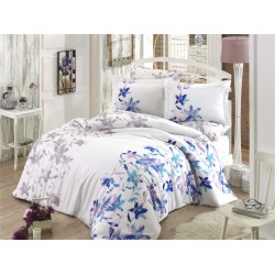 Satin Double Size Quilt Cover Set Lucia Turquoise
