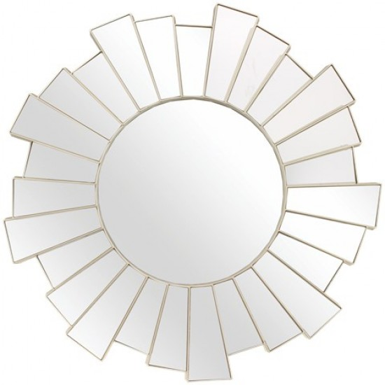 Sun mirror with GOLDEN metal frame GLAMOR 39 cm