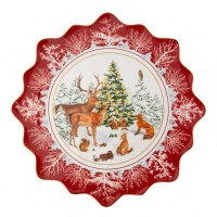 Large pastry plate forest animals