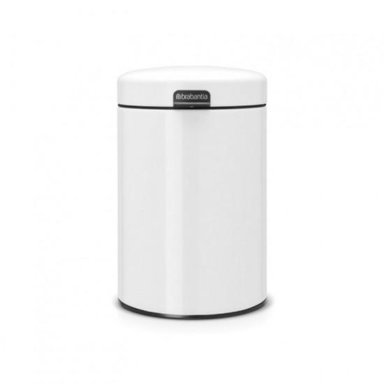 Wall mounted bin Newicon, 3 litre, plastic inner bucket Brabantia, White