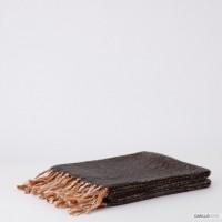 Riviera Grigio Melange Plaid Blanket 130 x 160 cm