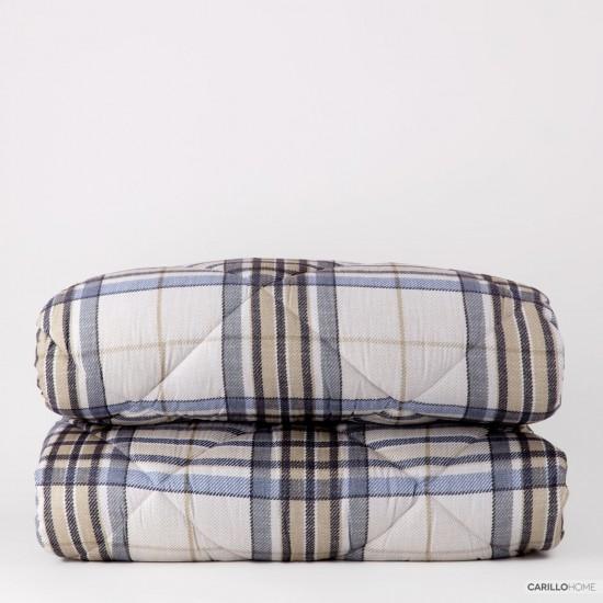 Riviera Plaid Bedspread 220 x 260 cm