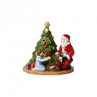 Christmas Toy's lantern distributing presents, multicoloured