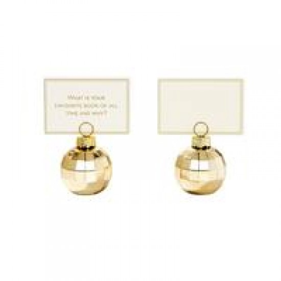Party Porcelain Gold Place Card Holders