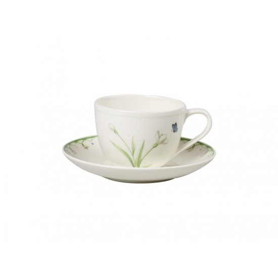 Colourful Spring espresso cup /saucer