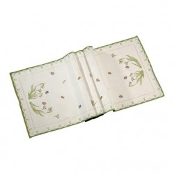 Colourful Spring Gobelin runner Snowdrop XL
