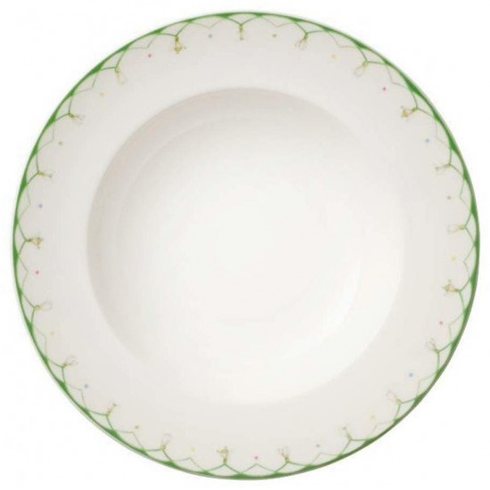 Colourful Spring deep plate