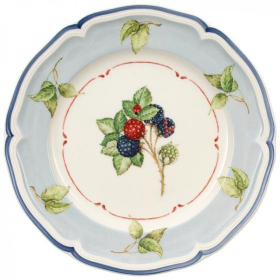 Cottage Salad Plate Blue Background