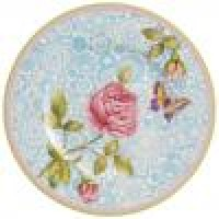 Rose Cottage Fruits Plate Blue