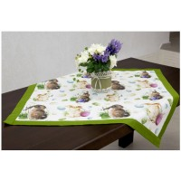 Easter Bunnies Square Table Runner
