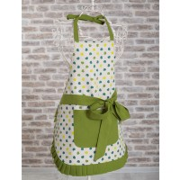 Green Hearts Kitchen Apron