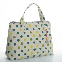 Green Hearts Lunch Bag