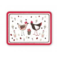 Chicken White Placemat Set 4 pcs