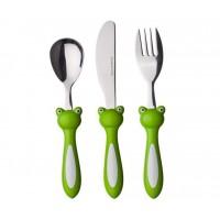 Cute Frog Children's Cutlery Set 3 pcs
