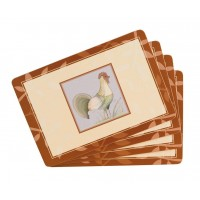 Country Rooster Placemats Set 4 pcs