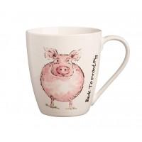 Back to Front Pig Mug