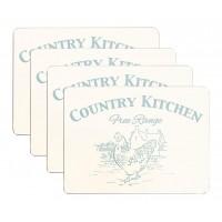 Country Kitchen Placemats Set 4 pcs