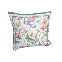 Decorative pillow Floral Blue 45 x 45 cm